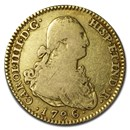 1796 M MF Spain Gold 2 Escudos Charles IIII VF
