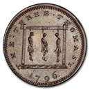 1796 Middlesex Farthing Conder Token MS-64 PCGS (BN)