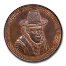 1796 Suffolk Copper Penny Token MS-65 PCGS (Brown)