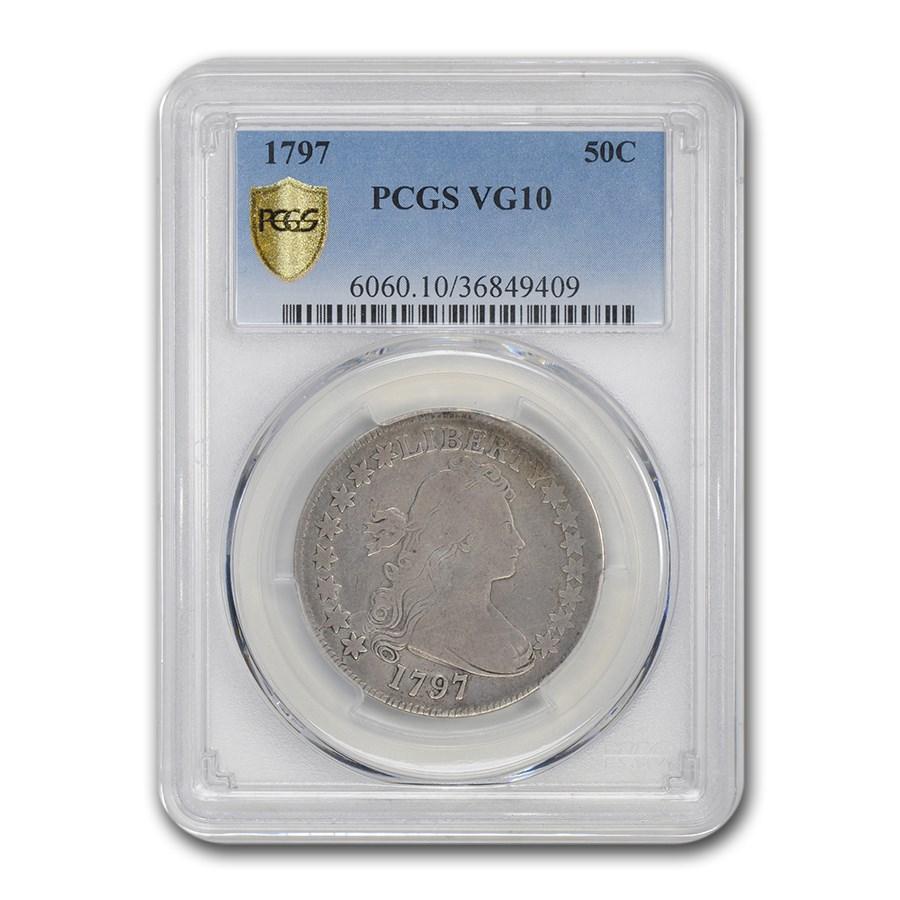 1797 Bust Half Dollar VG-10 PCGS