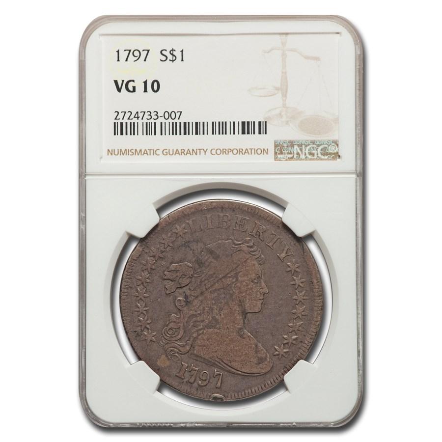 1797 Draped Bust Dollar VG-10 NGC