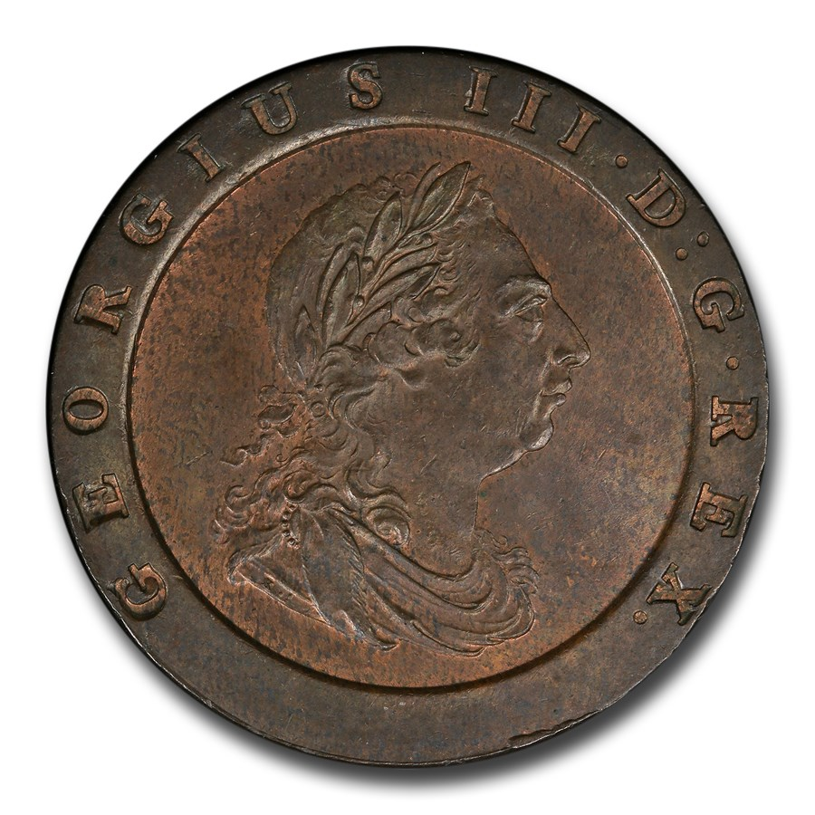 1797 Great Britain Copper Twopence MS-63 PCGS (Brown)