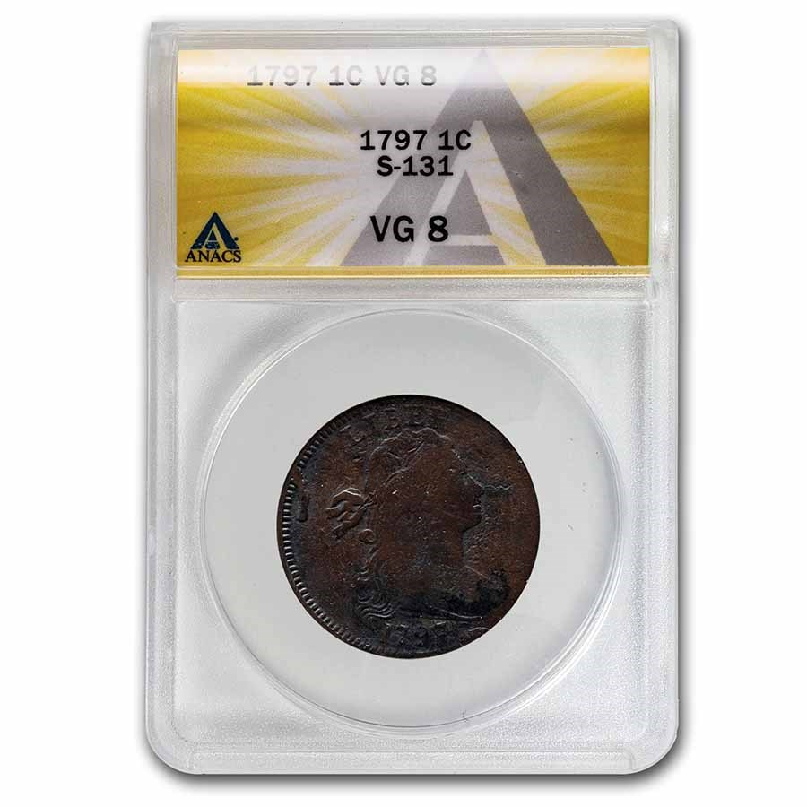 1797 Large Cent VG-8 ANACS (S-131)