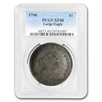 1798 Draped Bust Dollar Heraldic Eagle XF-40 PCGS