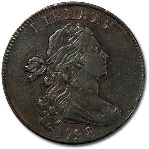1798 Large Cent 2nd Hair Style AU