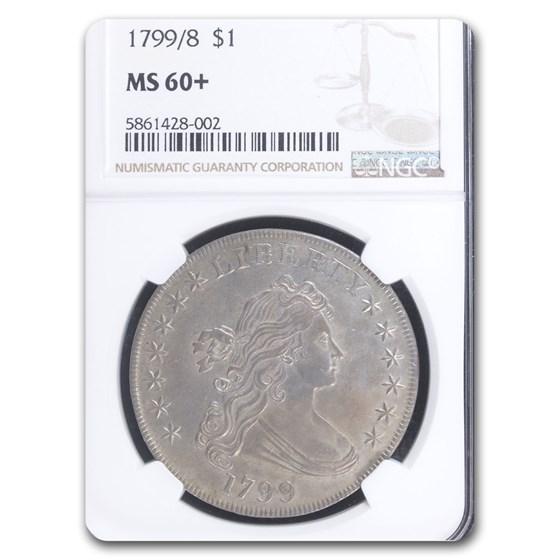 1799/8 Draped Bust Dollar MS-60+ NGC (13 Stars)