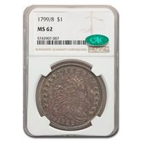 1799/8 Draped Bust Dollar MS-62 NGC CAC