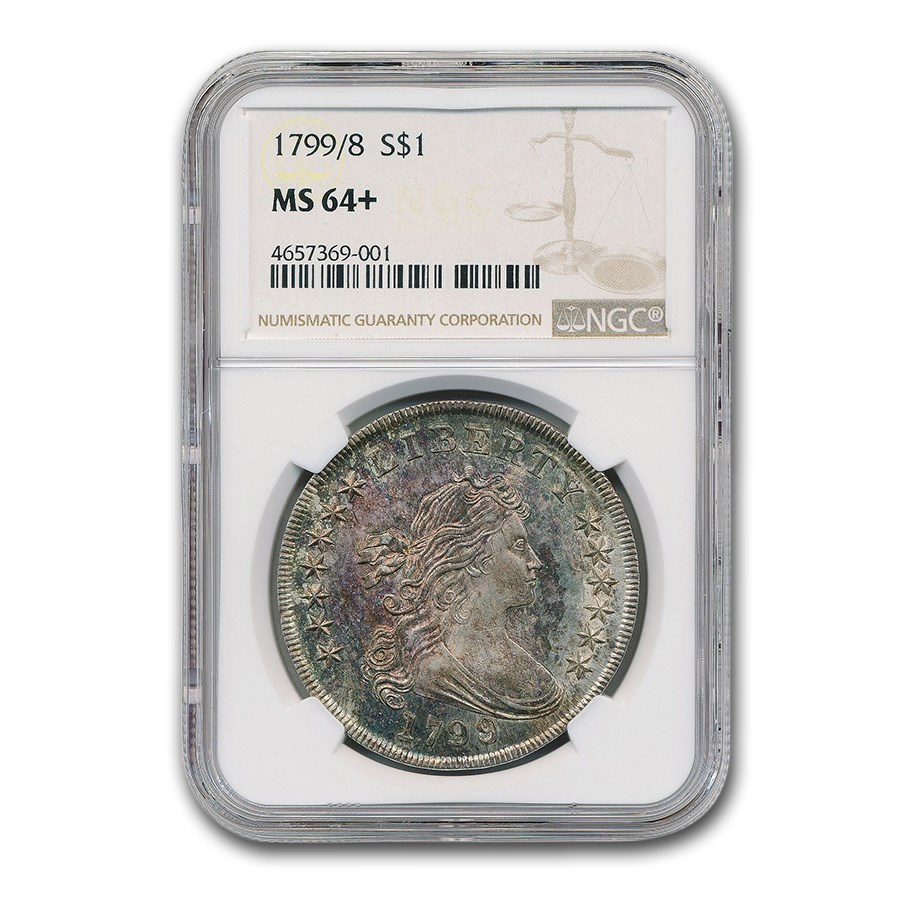 1799/8 Draped Bust Dollar MS-64+ NGC