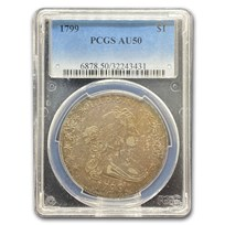 1799 Draped Bust Dollar AU-50 PCGS