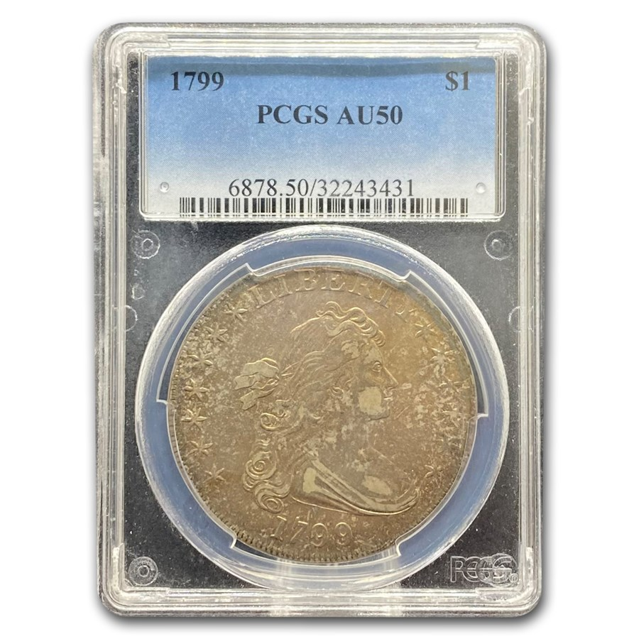 1799 Draped Bust Dollar AU-50 PCGS