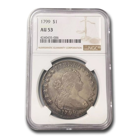 1799 Draped Bust Dollar AU-53 NGC
