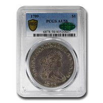 1799 Draped Bust Dollar AU-58 PCGS CAC