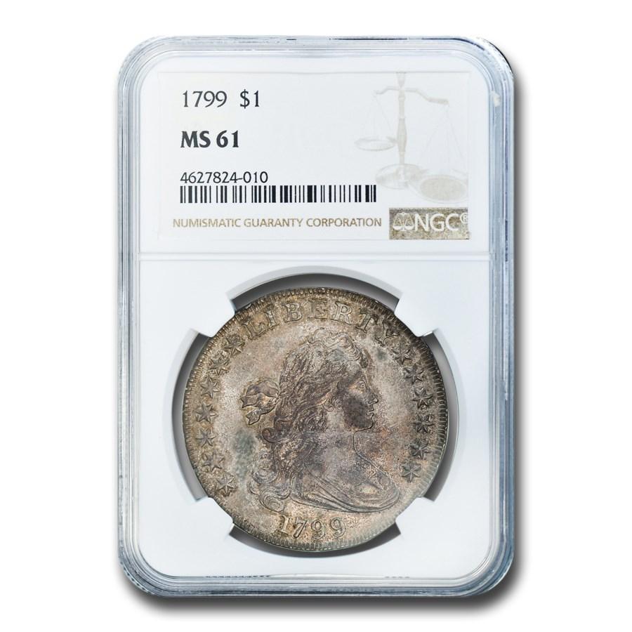 1799 Draped Bust Dollar MS-61 NGC