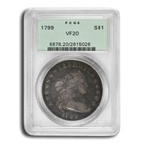 1799 Draped Bust Dollar VF-20 PCGS