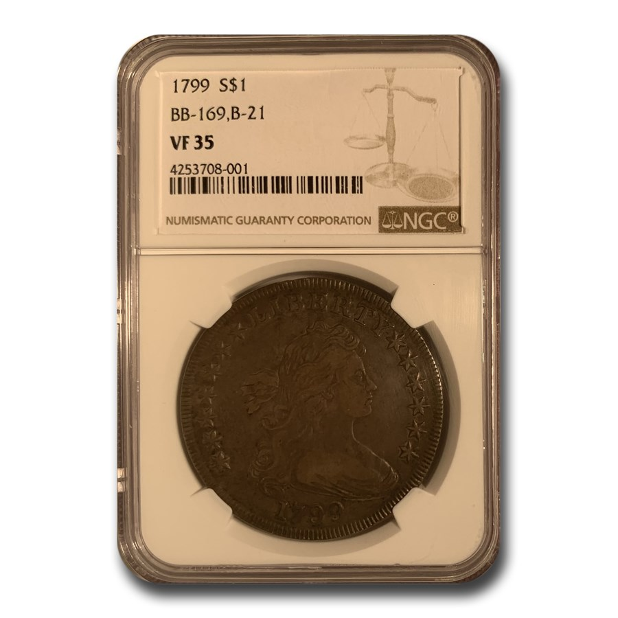 1799 Draped Bust Dollar VF-35 NGC (BB-169, B-21)