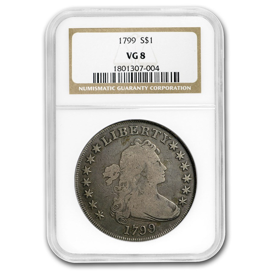 1799 Draped Bust Dollar VG-8 NGC