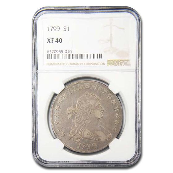 1799 Draped Bust Dollar XF-40 NGC