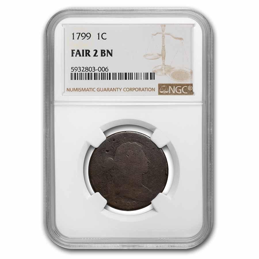 1799 Large Cent Fair-2 NGC (Brown)