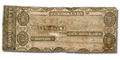18__ $10 The State Bank of Boston MA-365 VG COUNTERFEIT