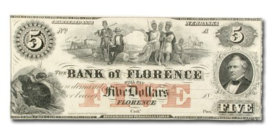 18__ Bank of Florence, Nebraska $5.00 NE-40 CCU