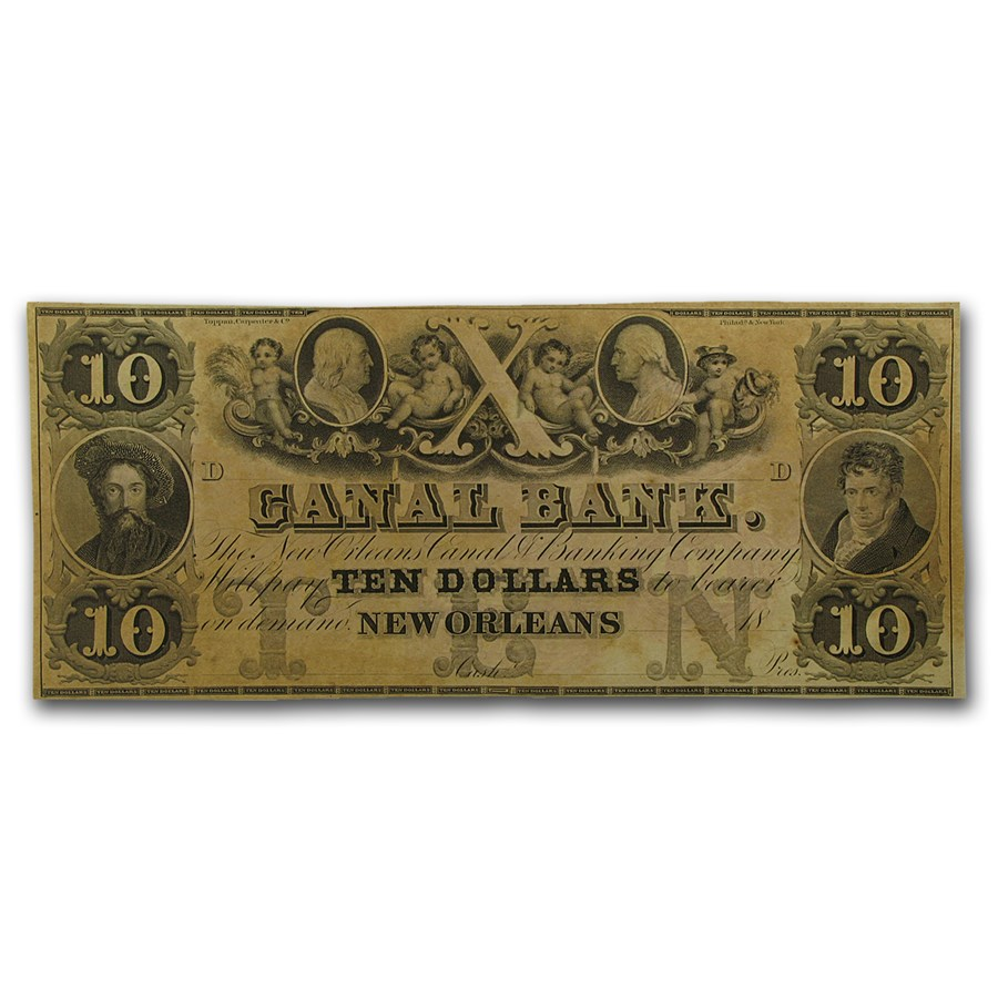 18__ Canal Bank of New Orleans $10 Note LA-105 AU