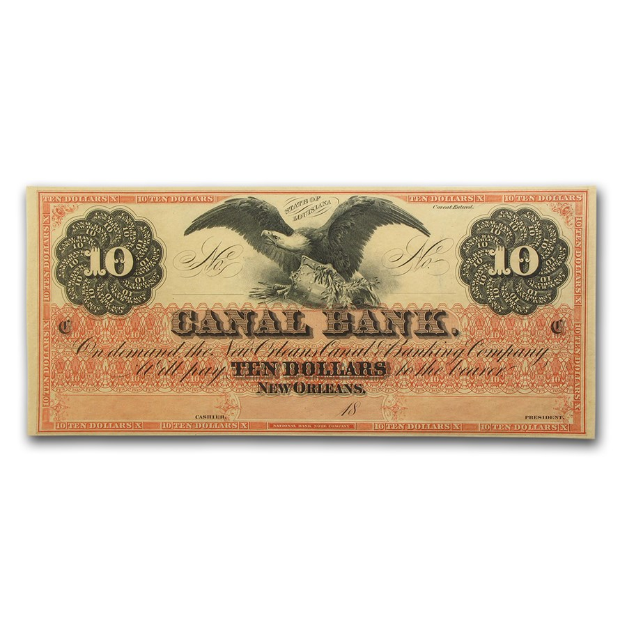 18__ Canal Bank of New Orleans $10 Note LA-105 CU