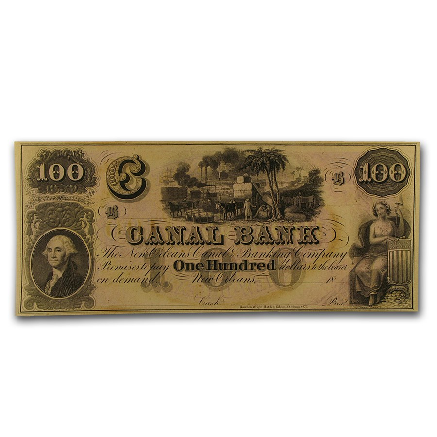 18__ Canal Bank of New Orleans $100 Note LA-105 CU