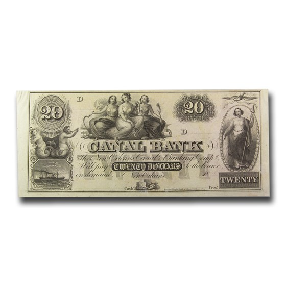18__ Canal Bank of New Orleans $20.00 Note LA-105 AU