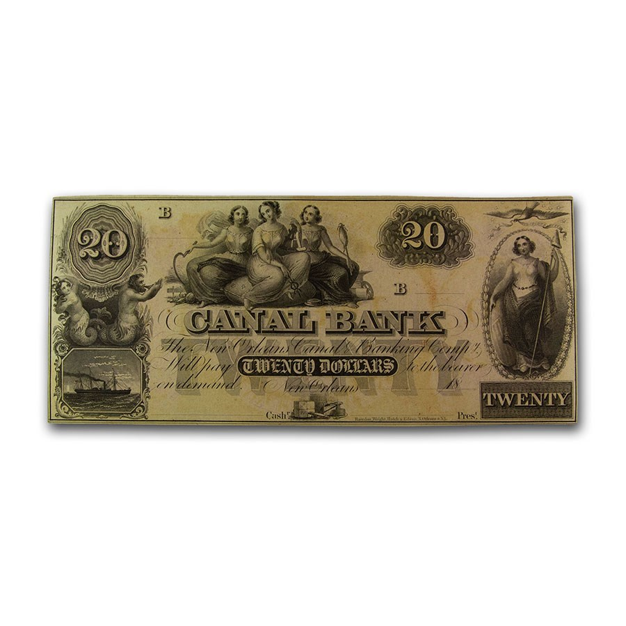 18__ Canal Bank of New Orleans $20 Note LA-105 CU