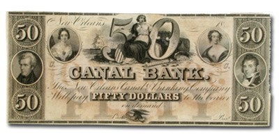 18__ Canal Bank of New Orleans $50.00 Note LA-105 CU