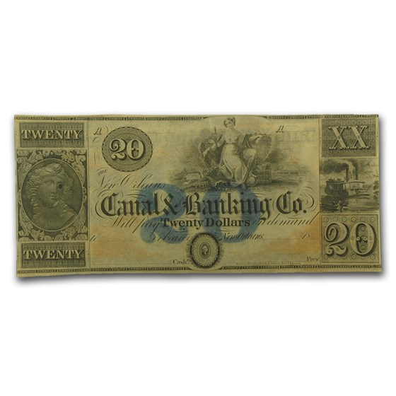 18__ Canal & Banking Co. of New Orleans $20.00 Note LA-105 CU