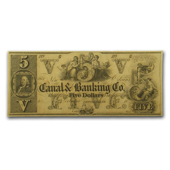 18__ Canal & Banking Co. of New Orleans $5.00 Note LA-105 CU
