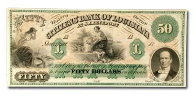 18__ Citizen's Bank of Louisiana @ Shreveport $50. LA-15 Ch CU