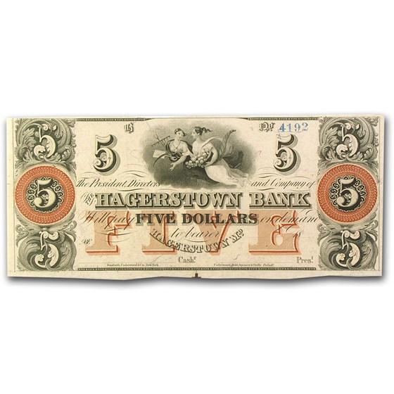 18__ Hagerstown Bank, Hagerstown, MD $5.00 MD-240 AU