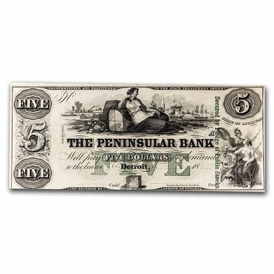 18__ Peninsular Bank of Detroit MI $5 MI-155 AU
