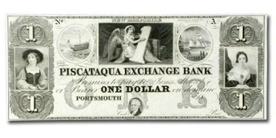 18__ Piscataqua Exchange Bank $1 NH-285 Ch CU