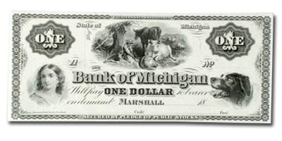 18__ The Bank of Michigan @ Marshall $1 MI-265 CU