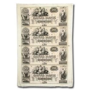 18__ UNCUT SHEET Canal Bank New Orleans LA $20-20-20-20 LA-105 CU