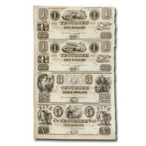 18__ UNCUT SHEET-Tecumseh Bk Michigan $1--3-$5.00 MI-440 Ch AU
