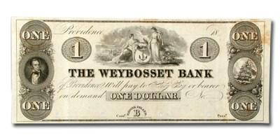 18__ Weybosset Bank, Providence, RI $1 RI-410 PROOF