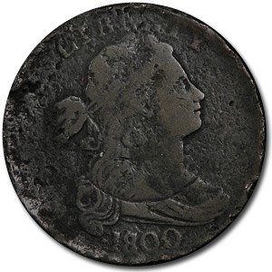 1800/1798 Large Cent 1st Hair Style VF Details