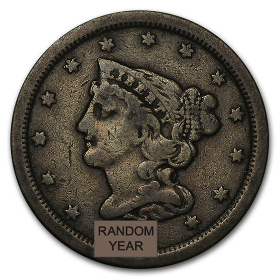 1800-1857 Half Cents Avg Circ