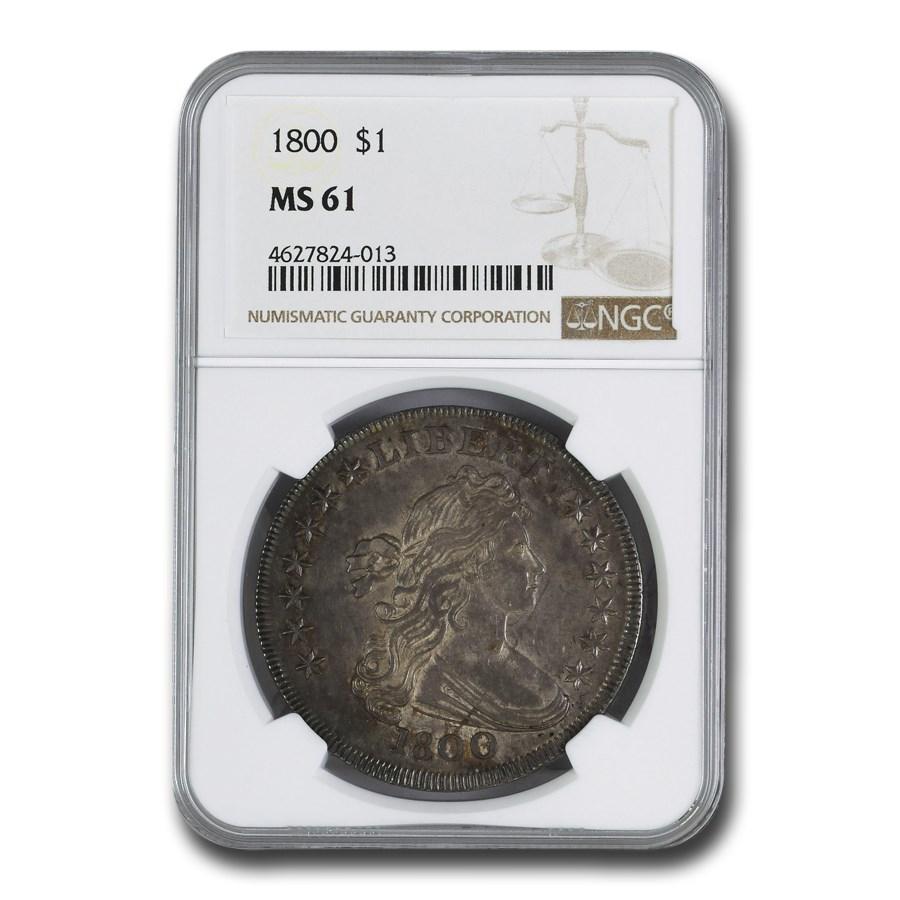 1800 Draped Bust Dollar MS-61 NGC