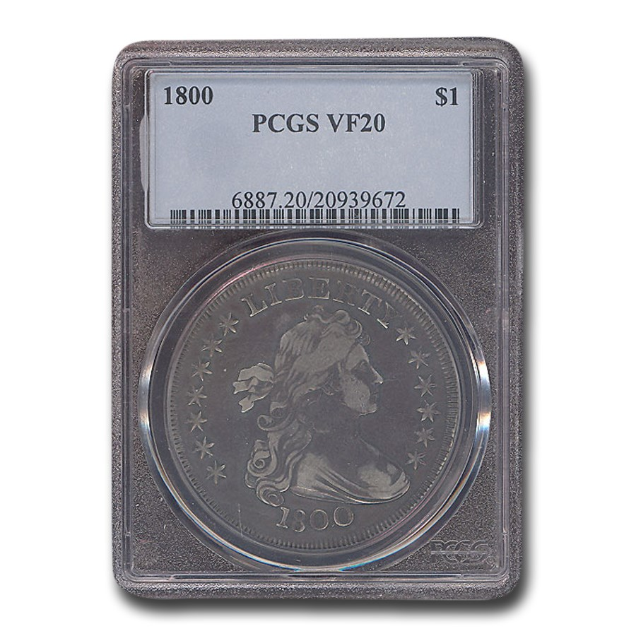 1800 Draped Bust Dollar VF-20 PCGS