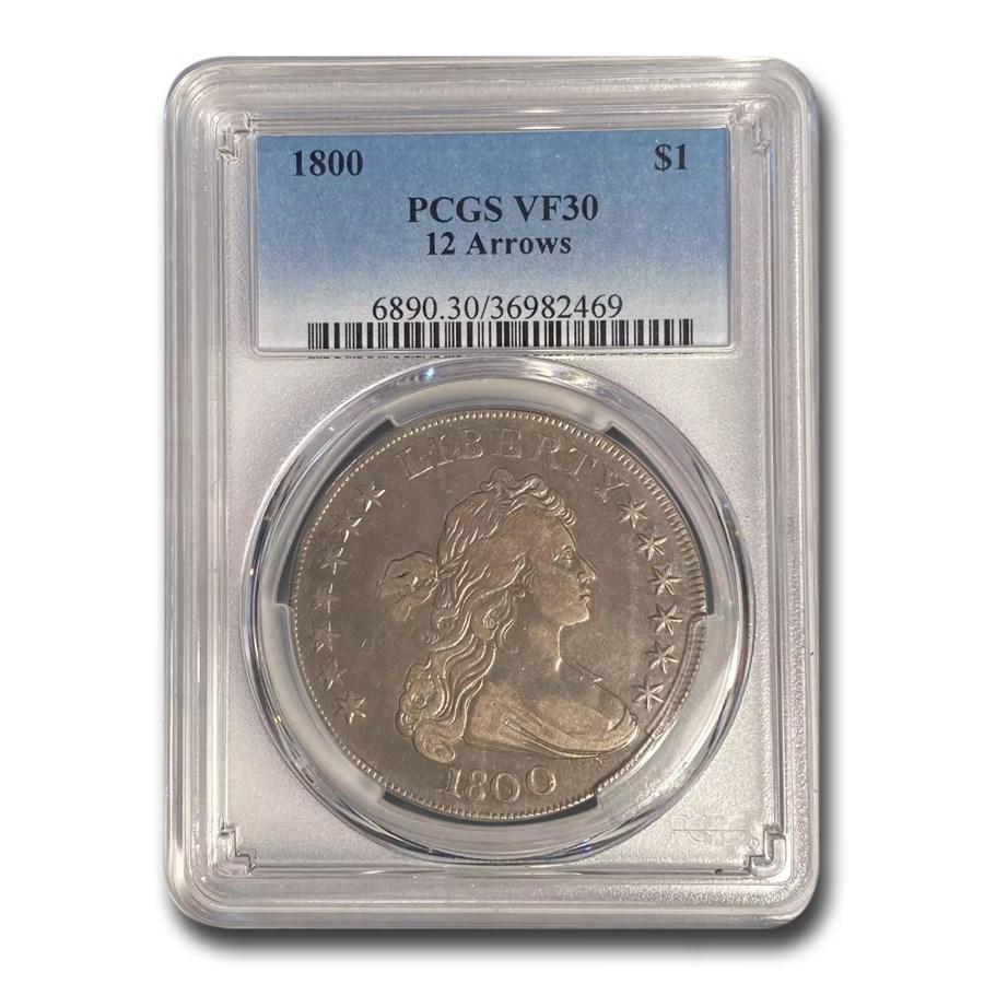 1800 Draped Bust Dollar VF-30 PCGS