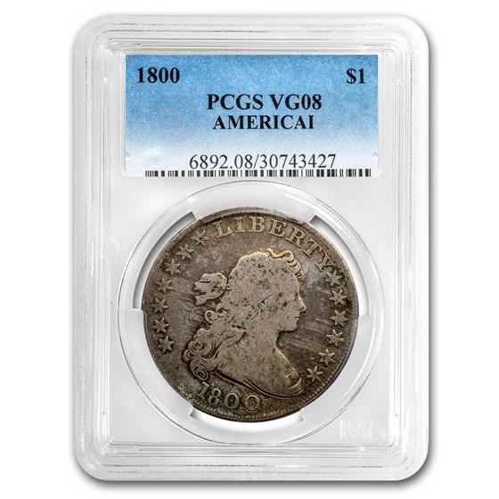 1800 Draped Bust Dollar VG-8 PCGS (AMERICAI)
