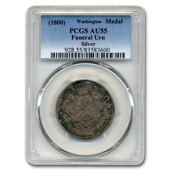 (1800) Washington Funeral Urn Medal AU-55 PCGS