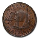 1800s Great Britain Copper Pidcock's Farthing Token MS-64 BN PCGS