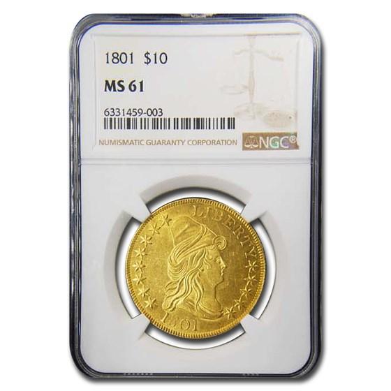 1801 $10 Turban Head Gold Eagle MS-61 NGC