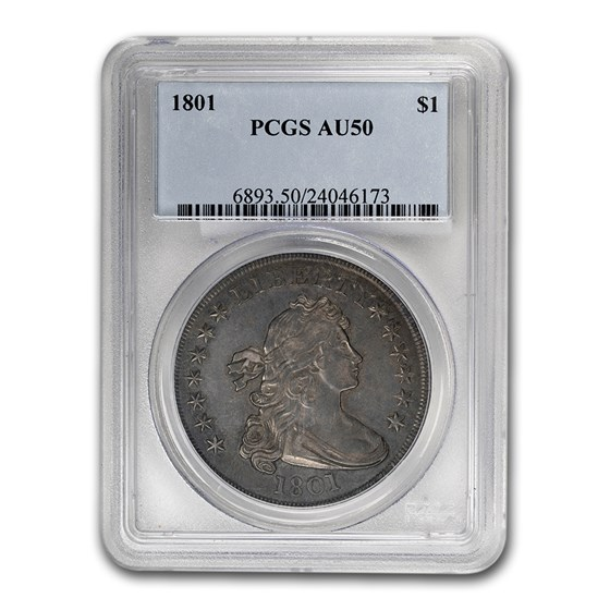 1801 Draped Bust Dollar AU-50 PCGS